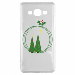 Samsung A5 2015 Case Christmas trees in a wreath