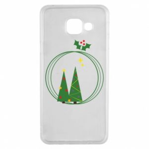 Samsung A3 2016 Case Christmas trees in a wreath