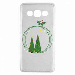 Samsung A3 2015 Case Christmas trees in a wreath