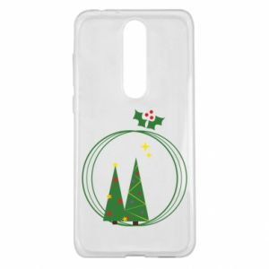 Nokia 5.1 Plus Case Christmas trees in a wreath
