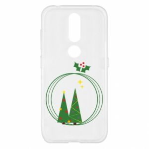 Nokia 4.2 Case Christmas trees in a wreath