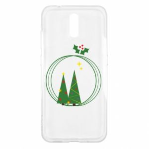 Nokia 2.3 Case Christmas trees in a wreath