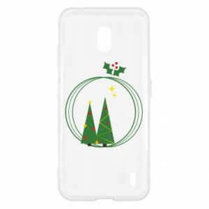 Nokia 2.2 Case Christmas trees in a wreath