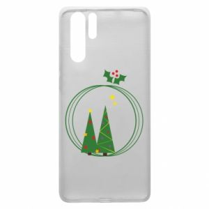 Huawei P30 Pro Case Christmas trees in a wreath