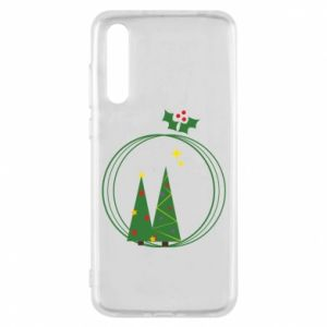 Huawei P20 Pro Case Christmas trees in a wreath