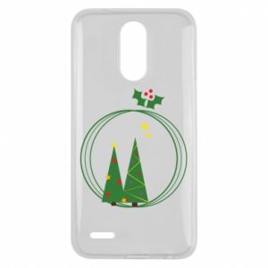 Lg K10 2017 Case Christmas trees in a wreath