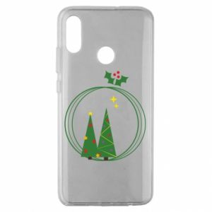 Huawei Honor 10 Lite Case Christmas trees in a wreath