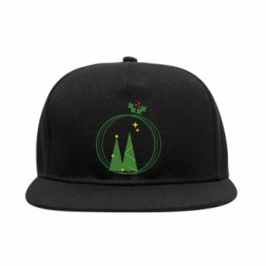SnapBack Christmas trees in a wreath