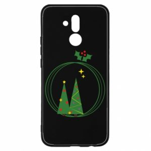 Huawei Mate 20Lite Case Christmas trees in a wreath