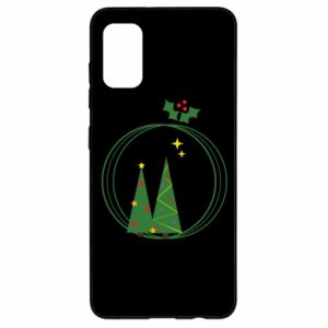 Samsung A41 Case Christmas trees in a wreath