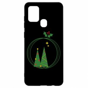 Samsung A21s Case Christmas trees in a wreath