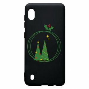 Samsung A10 Case Christmas trees in a wreath