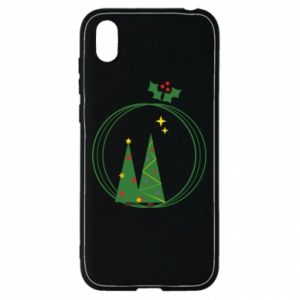 Huawei Y5 2019 Case Christmas trees in a wreath