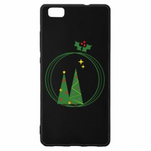 Huawei P8 Lite Case Christmas trees in a wreath