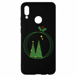 Huawei P Smart 2019 Case Christmas trees in a wreath