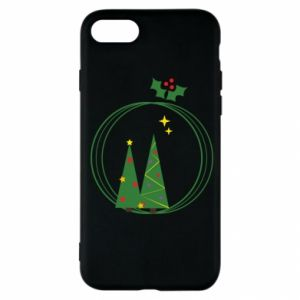 iPhone SE 2020 Case Christmas trees in a wreath