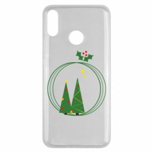 Huawei Y9 2019 Case Christmas trees in a wreath
