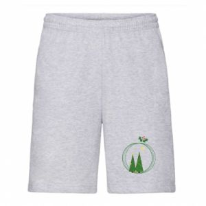Men's shorts Christmas trees in a wreath