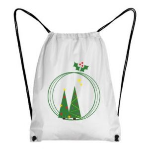 Backpack-bag Christmas trees in a wreath