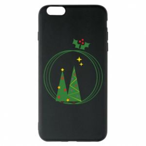 Phone case for iPhone 6 Plus/6S Plus Christmas trees in a wreath