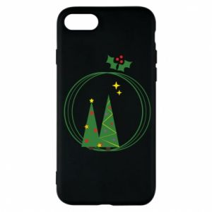 Phone case for iPhone 7 Christmas trees in a wreath