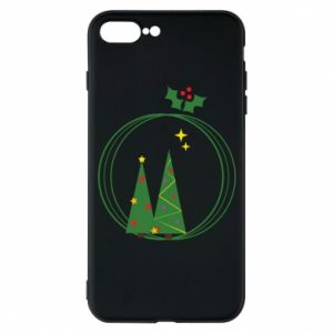 iPhone 7 Plus case Christmas trees in a wreath