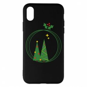 Phone case for iPhone X/Xs Christmas trees in a wreath