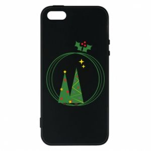 Phone case for iPhone 5/5S/SE Christmas trees in a wreath