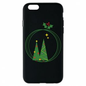 Phone case for iPhone 6/6S Christmas trees in a wreath
