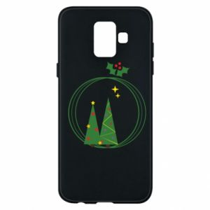 Phone case for Samsung A6 2018 Christmas trees in a wreath