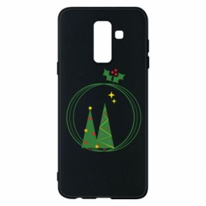 Samsung A6+ 2018 Case Christmas trees in a wreath