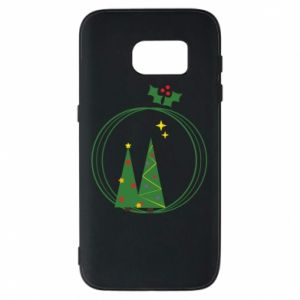 Phone case for Samsung S7 Christmas trees in a wreath