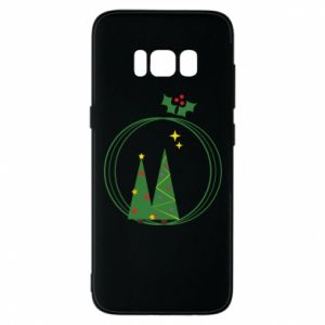 Phone case for Samsung S8 Christmas trees in a wreath