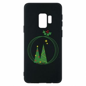 Samsung S9 Case Christmas trees in a wreath