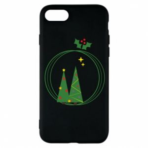 Phone case for iPhone 8 Christmas trees in a wreath