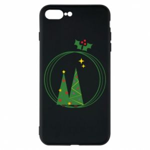 Phone case for iPhone 8 Plus Christmas trees in a wreath