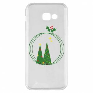 Samsung A5 2017 Case Christmas trees in a wreath