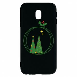 Samsung J3 2017 Case Christmas trees in a wreath