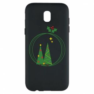 Samsung J5 2017 Case Christmas trees in a wreath