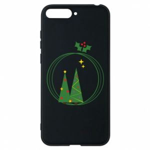 Phone case for Huawei Y6 2018 Christmas trees in a wreath