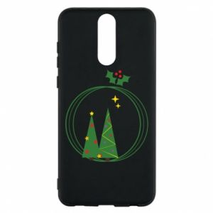 Phone case for Huawei Mate 10 Lite Christmas trees in a wreath