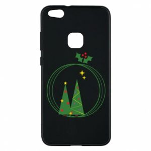 Phone case for Huawei P10 Lite Christmas trees in a wreath