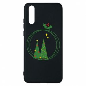 Phone case for Huawei P20 Christmas trees in a wreath