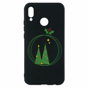 Huawei P20 Lite Case Christmas trees in a wreath