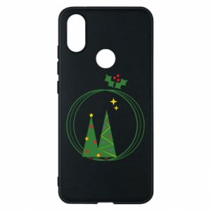 Phone case for Xiaomi Mi A2 Christmas trees in a wreath