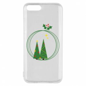 Phone case for Xiaomi Mi6 Christmas trees in a wreath