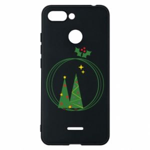 Phone case for Xiaomi Redmi 6 Christmas trees in a wreath