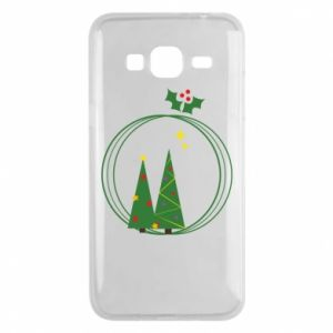 Samsung J3 2016 Case Christmas trees in a wreath