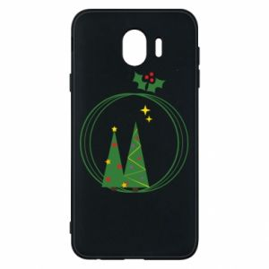 Phone case for Samsung J4 Christmas trees in a wreath