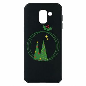 Samsung J6 Case Christmas trees in a wreath